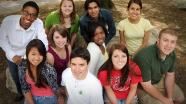 Group of international students