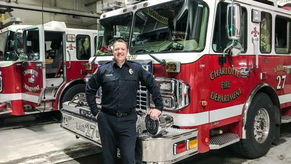 Veteran Earns Degree While Continuing to Fight Fires in Charlotte